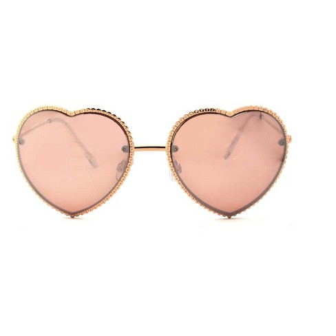 Women's Heart Shaped Sunglasses - Rose Gold - image 1 of 1