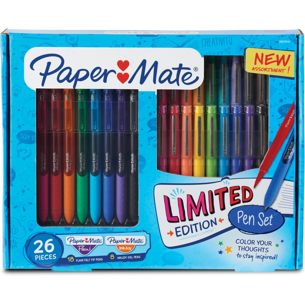 Paper Mate Rollerball Gel Pens 26ct - Multicolor, Multi-Colored