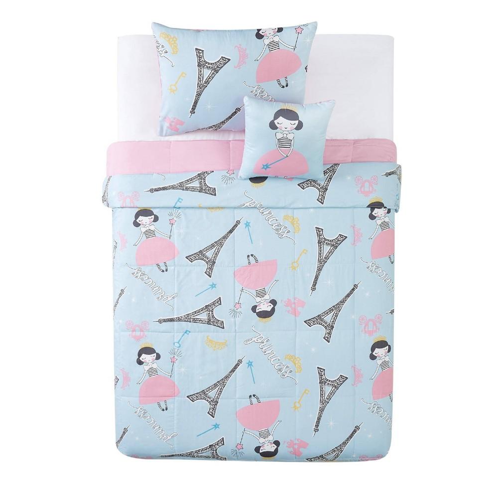 Image of Full 4pc Paris Princess Comforter Set Pink - My World