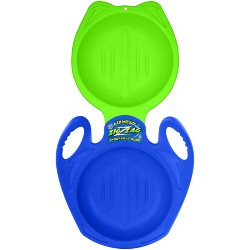 Airhead Zig Zag Steerable Plastic Sled - Blue/Green
