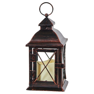 Smart Living Aversa 10  LED Candle Outdoor Lantern - Antique Bronze