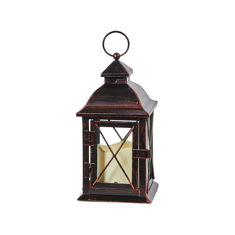 "Image of ""Smart Living Aversa 10"""" LED Candle Outdoor Lantern - Antique Bronze"""
