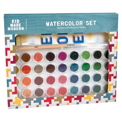 Kid Made Modern 36ct Watercolor Paint Set