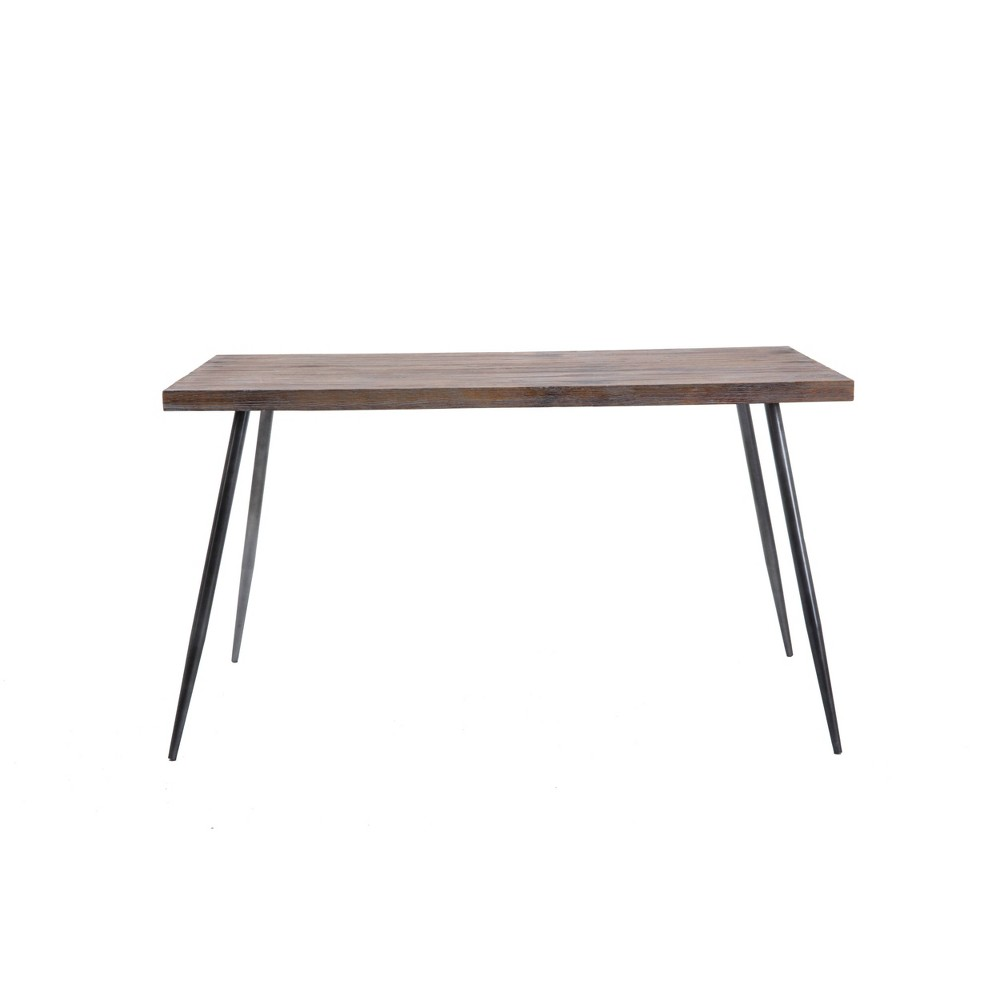 "Image of ""54"""" Reddick Wood Dining Table/Desk Antique Gray - Summerland Home"""