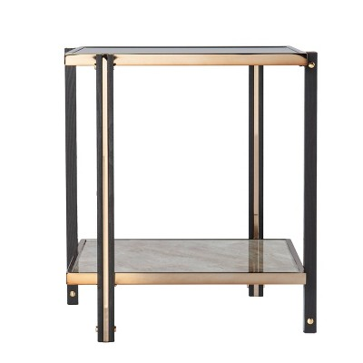 Carswaf End Table with Mirrored Top Champagne - Aiden Lane
