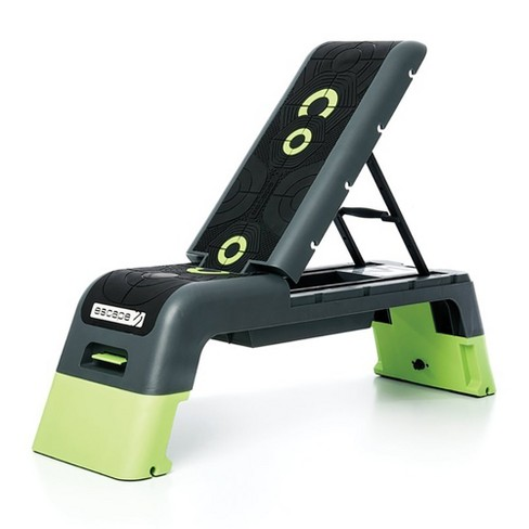 Escape Fitness Multi Purpose Fitness Station Deck for Step, Weight Training, Bootcamps, and More with Backrest and Storage Bin, Black - image 1 of 4
