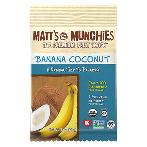 Matt's Munchies Banana Coconut Fruit Snacks - 1 oz - image 1 of 1