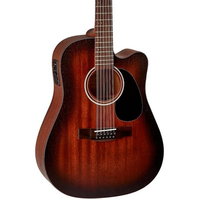 Mitchell T331TCE-BST Terra 12 String Acoustic Electric Dreadnaught Mahogany Top Guitar Edge Burst