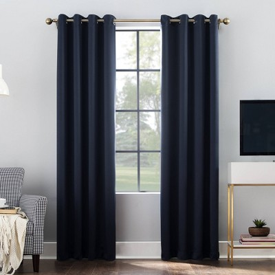 "84""x52"" Oslo Grommet Top Blackout Window Curtain Panel Navy - Sun Zero"