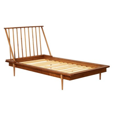 Twin Mid-Century Solid Wood Spindle Bed - Saracina Home