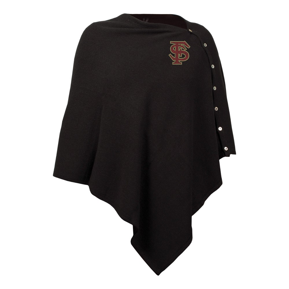 NCAA Florida State Seminoles Little Earth Black Out Button Poncho
