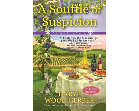 Souffle of Suspicion -  (French Bistro Mystery) by Daryl Wood Gerber (Hardcover) - image 1 of 1