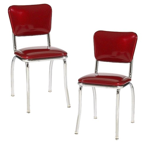 Set Of 2 Diner Chair Red Target