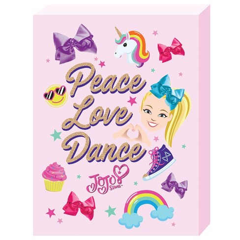 Jojo Siwa 12 X16 Peace And Love Wall Decor Target