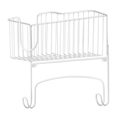 mDesign Wall Mount Ironing Board Holder, Large Storage Basket