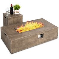 Best Choice Products 48x27in 50,000 BTU Patio Propane Fire Pit Table