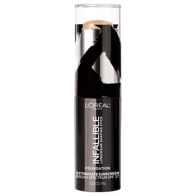 L'Oréal Paris Infallible Longwear Shaping Foundation Makeup Sticks Nude Beige - .32oz