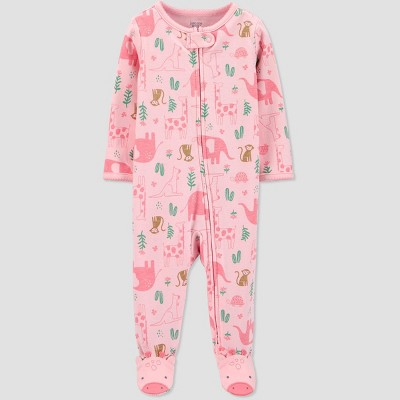 Baby Girls' Safari One Piece Pajamas - Just One You® made by carter's Pink Newborn