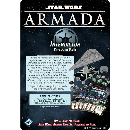 Fantasy Flight Games Star Wars Armada: Interdictor Class Star Destroyer Expansion Pack image number null