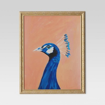 "24""x30"" Peacock Framed Wall Canvas - Opalhouse™"