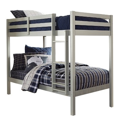 Kids' Twin Over Twin Caspian Bunk Bed Gray - Hillsdale Furniture