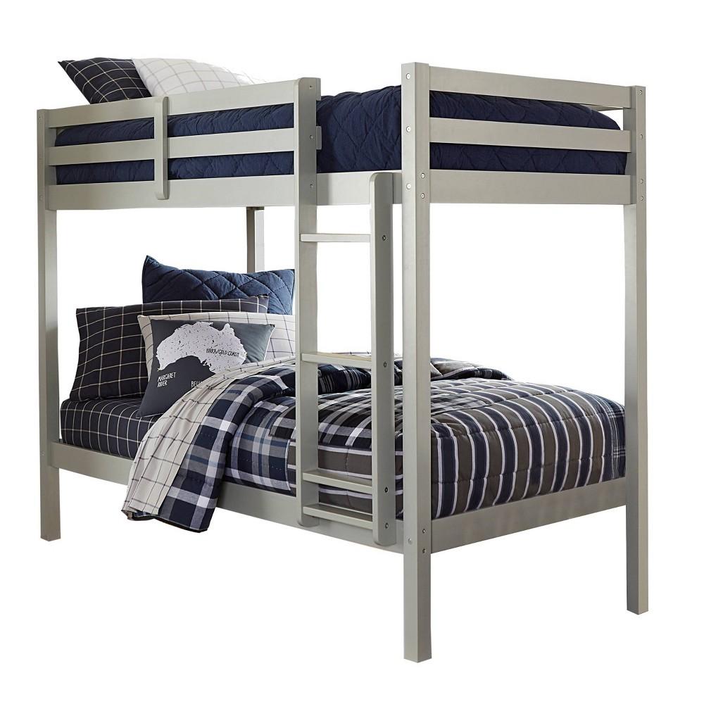 Kids 39 Twin Over Twin Caspian Bunk Bed Gray Hillsdale Furniture