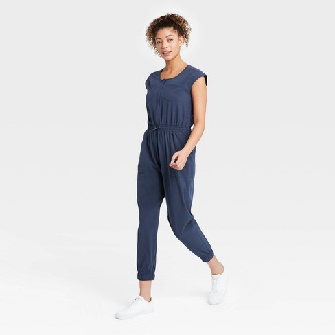 Women's Short Sleeve Jumpsuit - All in Motion™ - image 1 of 4