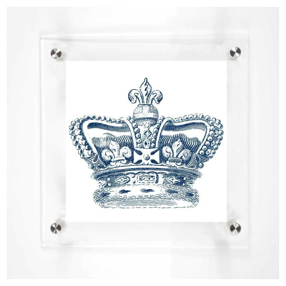 Mitchell Black English Royal Crown Decorative Framed Wall Canvas Midnight (12