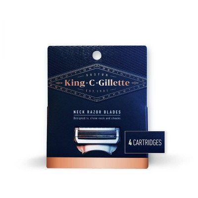 King C. Gillette Men's Neck Razor Blades - 4ct