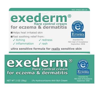 Exederm Flare Control 1% Hydrocortisone Anti Itch Cream 2oz