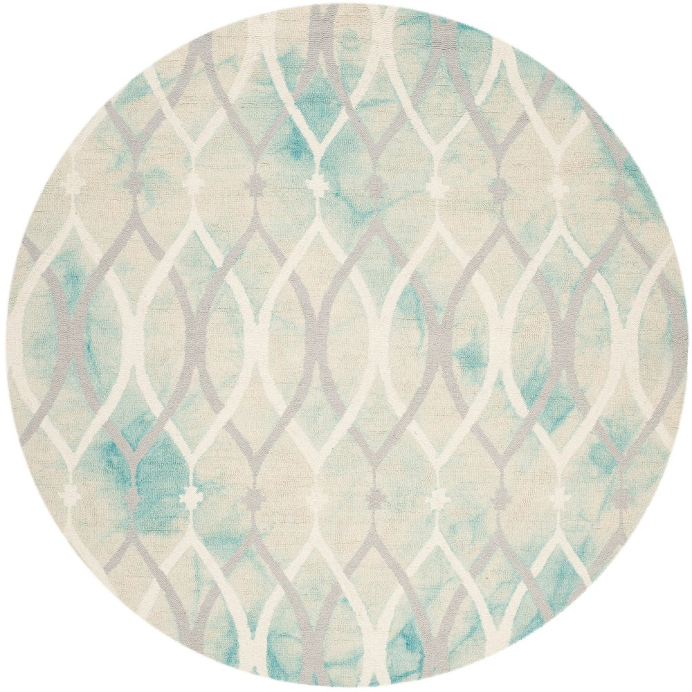 5' Shapes Round Area Rug Green/Ivory - Safavieh