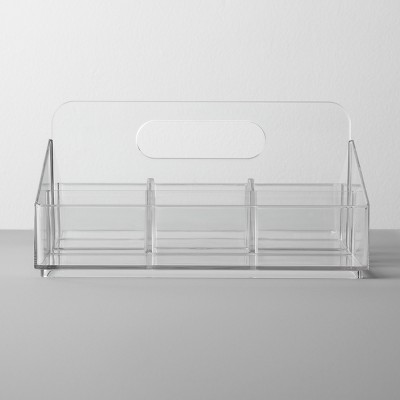 Bathroom Plastic 8 Slot Mixed Cosmetic Organizer Clear - Made By Design™