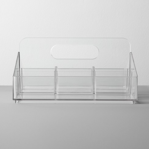 Bathroom Plastic 8 Slot Mixed Cosmetic Organizer Clear - Made By Design™ - image 1 of 4