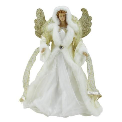 Melrose 18 Seasons Of Elegance White And Gold Angel Christmas Tree