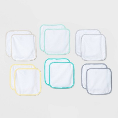 Baby 12pk Washcloth Set - Cloud Island™ White