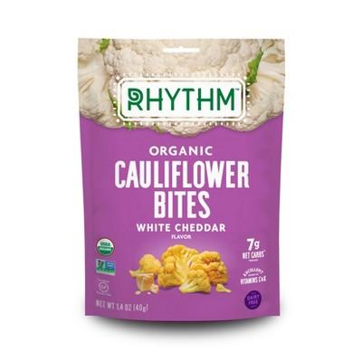 Rhythm White Cheddar Organic Cauliflower Bites - 1.4oz