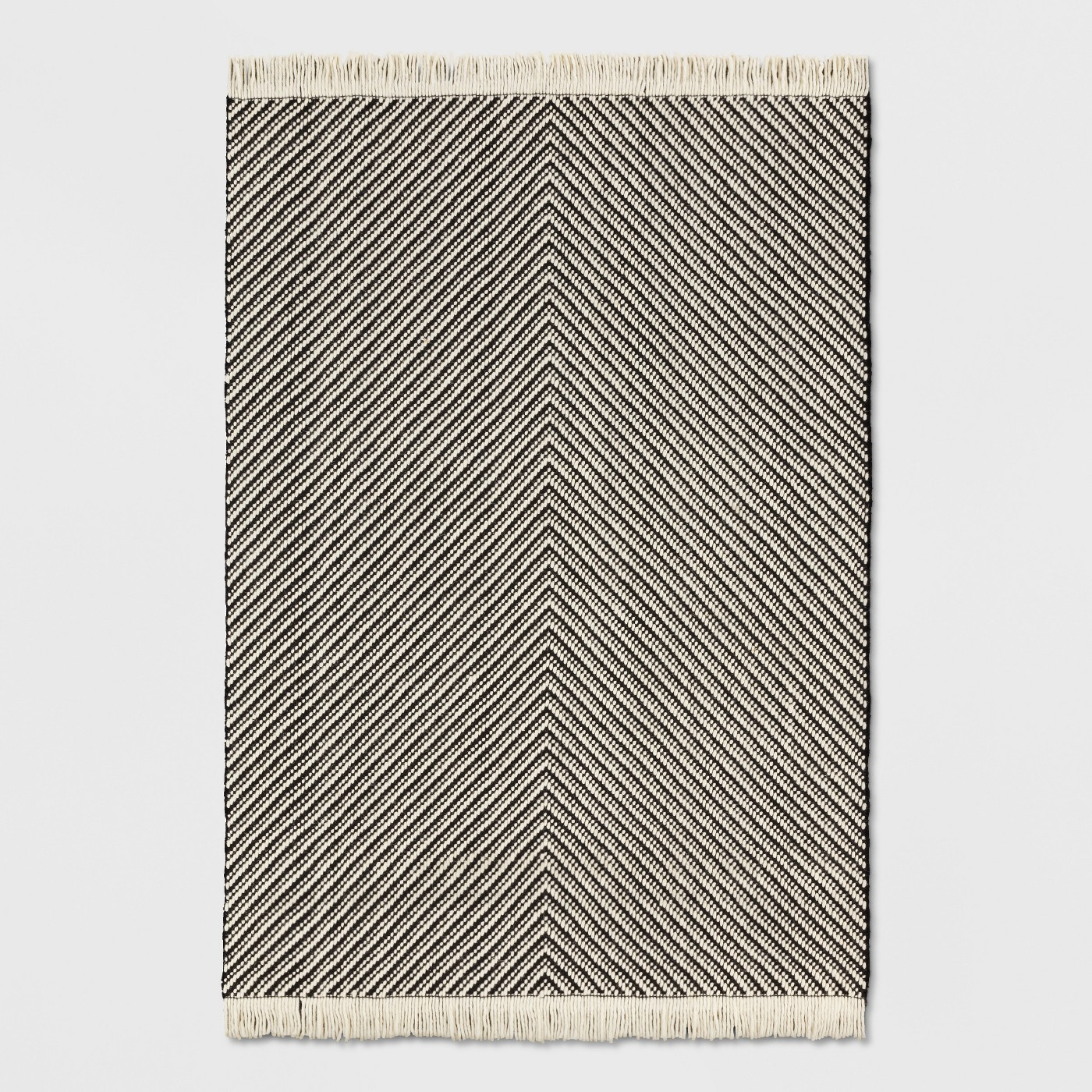 Black/White Chevron Woven Area Rug - Project 62