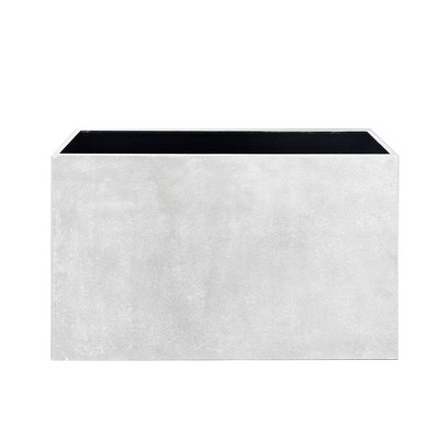 Rectangular Metal Box Planter White - Sagebrook Home