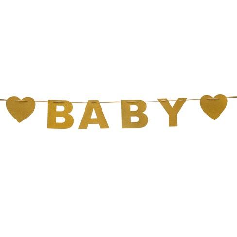 gold baby banner spritz target