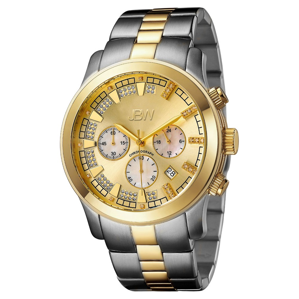 Image of Men's JBW JB-6218-C Delano Japanese Movement Stainless Steel Real Diamond Watch - Two tone, Men's, Size: Small