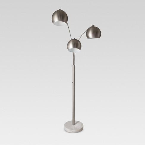 Span 3 Head Metal Globe Floor Lamp