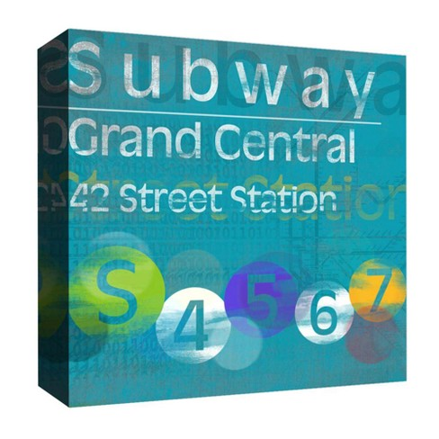 "Subway Grand Central Decorative Canvas Wall Art 16""x16"" - PTM Images - image 1 of 1"