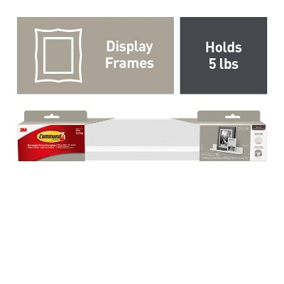 Command 1pc Picture Ledge with 10 mounting strips