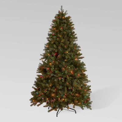 7ft Mixed Spruce Pre-Lit Full Artificial Christmas Tree Multicolored Lights - Christopher Knight Home