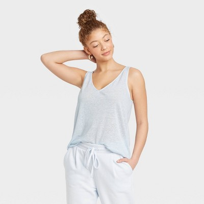 Women's Linen Tank Top - A New Day™