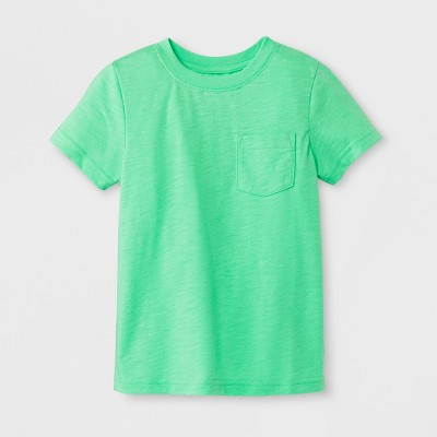 Toddler Boys' Pocket Short Sleeve T-Shirt - Cat & Jack™ Green 12M