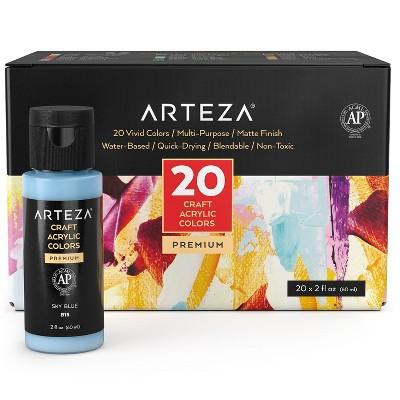Arteza Craft Acrylic Paint Art Supply Set, 60ml Bottles - 20 Piece