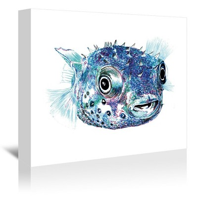 Americanflat Puffer Fish 2 by T.J. Heiser Wrapped Canvas