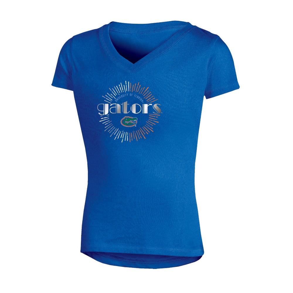NCAA Girls' V-Neck T-Shirt Florida Gators - S, Multicolored