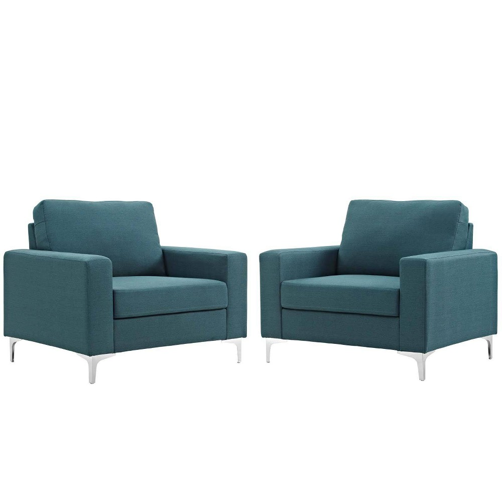 Image of 2pc Allure Armchair Set Blue - Modway